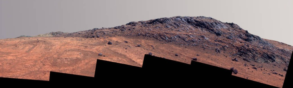 This image of the 'Hinners Point' on Mars has gone through extensive editing before making it to NASA's official website. Image courtesy of NASA